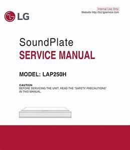 Lg Lap250h Soundplate System Original Service Manual And