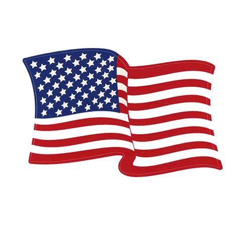 Left-Hand Waving American Flag Decal | FlagandBanner.com