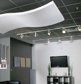 soundproofing drop ceiling office whisperwave acoustical baffles ceiling clouds foam