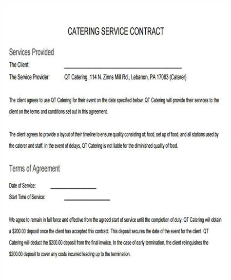 sample contract templates pages docs word