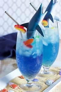 striking shark cocktails celebrate shark week