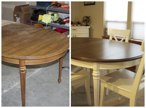 refinished kitchen table   give