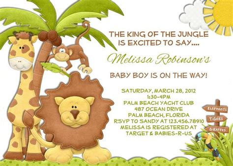items similar  jungle boy baby shower invitation lion