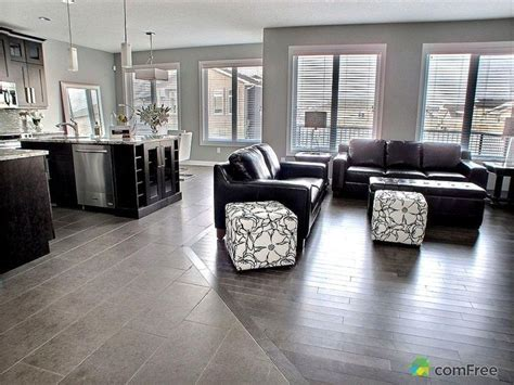 kitchen and living room flooring ideas clean tile to hardwood floor transition looks seamless 9046
