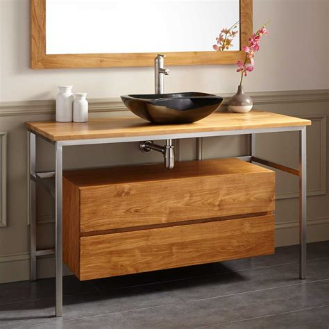 trough sink bathroom vanity 30 quot aurelia teak trough sink vanity bathroom