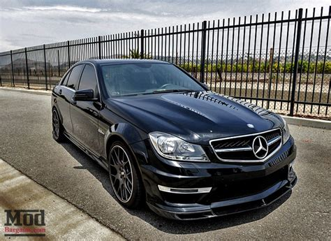 c63 amg w204 carbon fiber front lip for 2012 mercedes c63 amg w204