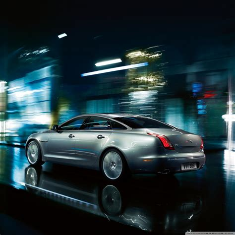 Jaguar Xj Gray 4k Hd Desktop Wallpaper For • Dual Monitor