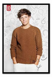 Framed One Direction 2013 Louis Tomlinson Poster Ready To ...
