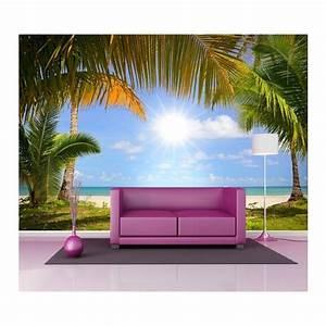 Papier Peint Geant : papier peint g ant d co tropique 250x360cm stickers ~ Premium-room.com Idées de Décoration