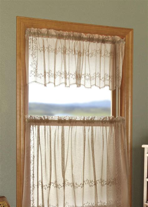 sheer valance heritage lace