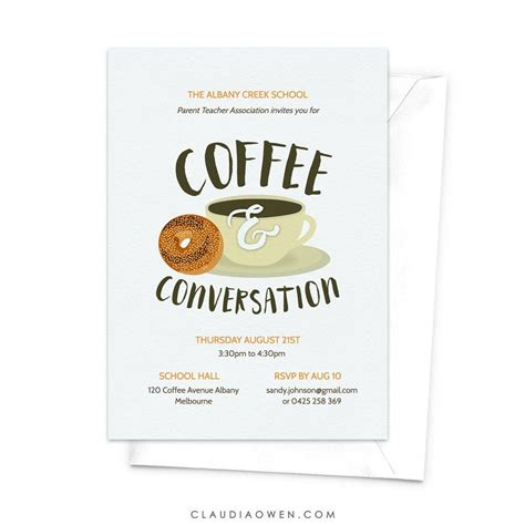 Since the advent of electronic communications, many business offices have adopted email as a means of communication due to its efficient and fast delivery. Coffee and Conversation Invitation Edit Yourself Template, Coffee and Bagel Digital Download ...
