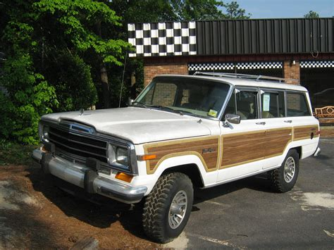 old white jeep cherokee file jeep grand wagoneer white nc f jpg wikipedia