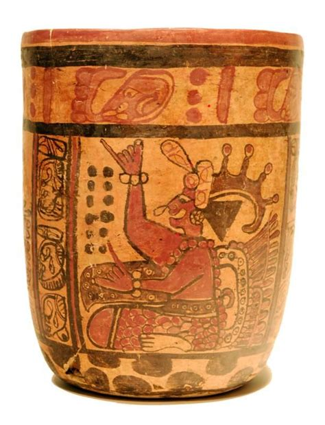mayan pottery copador cylinder late classic ca