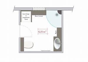 Cout Salle De Bain 4 M2 : conseils d 39 architecte 4 plans de salle de bains carr e plans am nagement salle de bains ~ Melissatoandfro.com Idées de Décoration