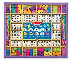 Amazoncom melissa doug deluxe wooden stringing beads for Melissa and doug wooden letter beads