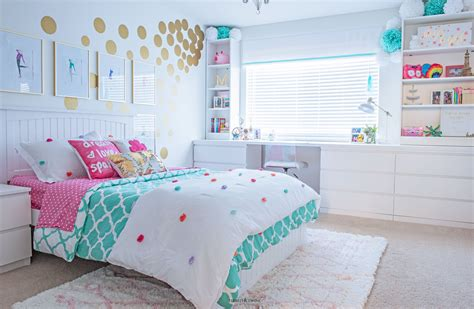 Tween Girl's Bedroom Makeover  Reveal  Tidbits&twine