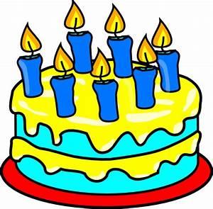 Cake 7 Candles Clip Art at Clker.com - vector clip art ...