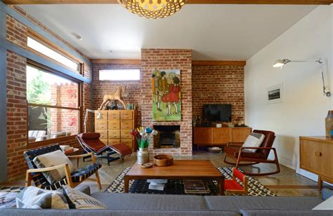 houzz living room wall decor mid century modern family home situated one metre from