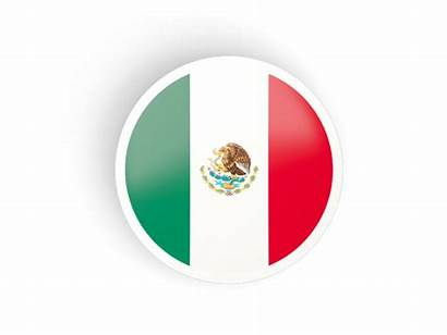 Mexico Icon Round Flag Concave Italy Commercial