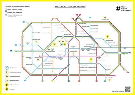 eine berliner  bahn karte gegen das frieren urbanitenet
