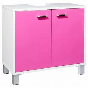 Meuble Sous Lavabo But : meuble sous lavabo gloss framboise ~ Dode.kayakingforconservation.com Idées de Décoration