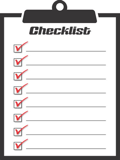 Checklist Clipart Checklist To Do Activities 183 Free Vector Graphic On Pixabay