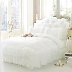 aliexpress com buy luxury white princess lace bedding set twin queen king size bedding for