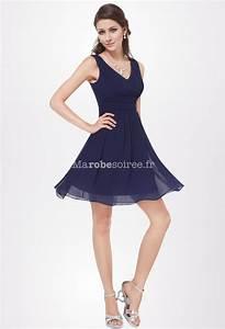 robe de cocktail courte mousseline fluide et legere With wonderful quelle couleur avec bleu marine 3 quelle couleur de chapeau avec ma robe