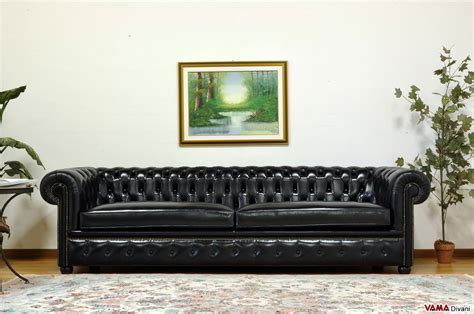Chesterfield Sofa With Vintage Brass-plated Studs