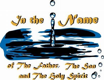Baptism Holy Spirit Son Father Clipart Devotional