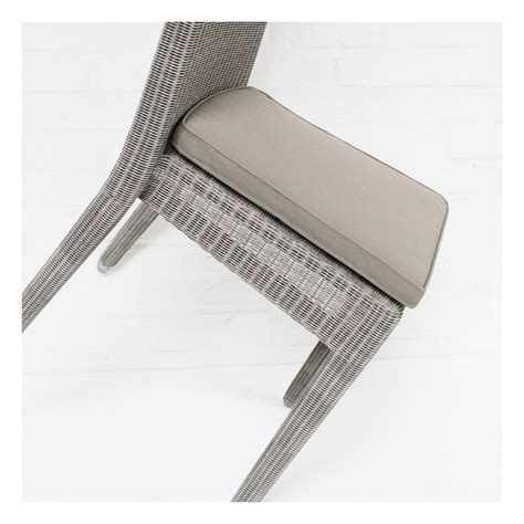 coussin de chaise gris coussin chaise en résine isabelle coloris gris