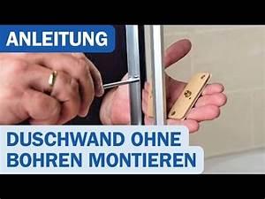 Wandbefestigung Ohne Bohren : einfache duschwand montage ohne bohren youtube ~ Watch28wear.com Haus und Dekorationen
