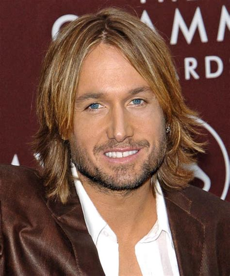 keith urban formal long straight hairstyle