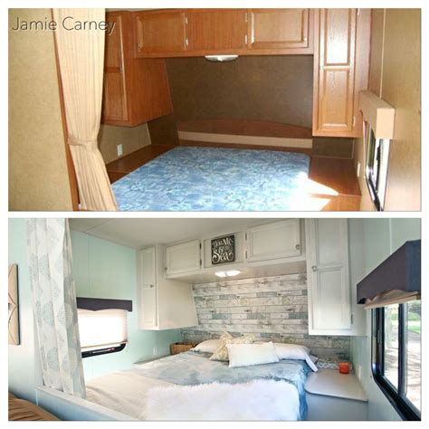 Beach Theme Master Bedroom Redo In A Travel Trailer