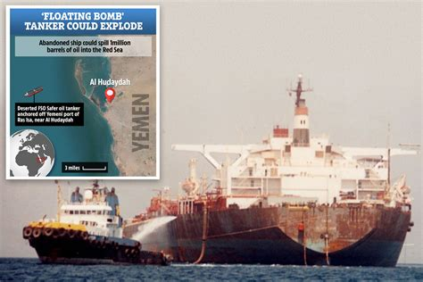 Consilium and printed with permission). Deserted oil tanker in Red Sea could EXPLODE and dump one million barrels of oil into ocean ...