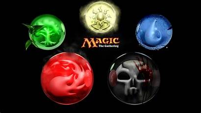 Magic Gathering Element Colors 3d Ball Marble