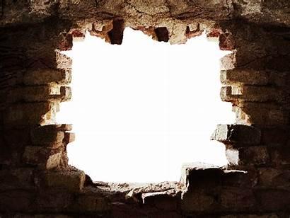 Broken Hole Wall Background Stone Brick Photoshop