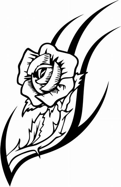 Rose Tattoo Coloring Pages Designs Tattoos Flowers