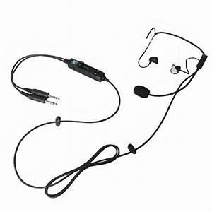 In ear type light weight aviation headset ufq l1 for Aviation intercom
