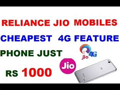 reliance jio rs1000 lyf 4g volte cheapest smartphone features