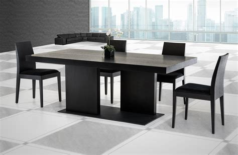 modern black table l modrest cobalt modern black oak dining table