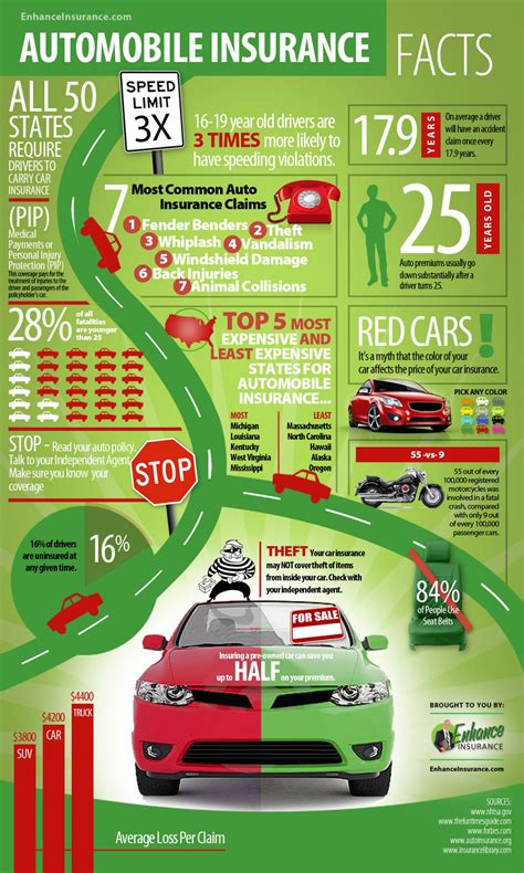 facts about scr autos post auto insurance facts and interesting statistics visual ly