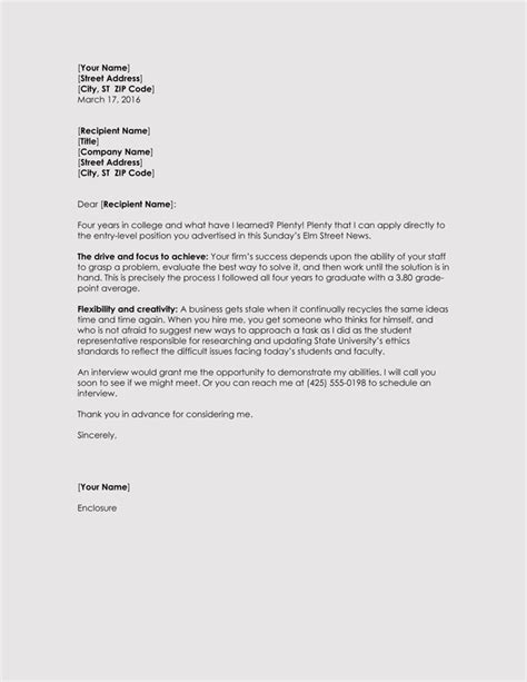 Graduate Resume Cover Letter by Graduate Resume Cover Letter Exles