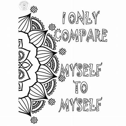 Coloring Pages Mindset Growth Myself Different