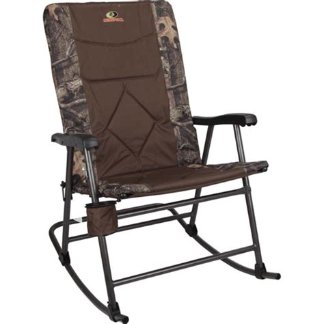 folding rocking c chairs mossy oak large rocker chair with cup holder walmart