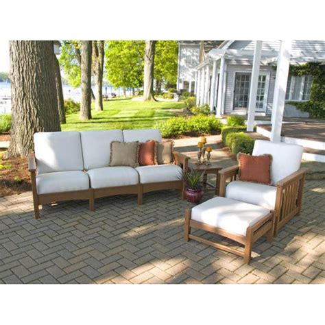 polywood patio furniture reviews photos polywood 174 mission 4 sofa set pw mission set5