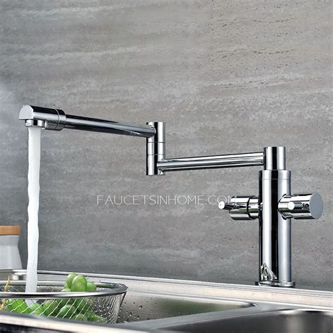 high  copper rotatable folding kitchen pot filler faucets
