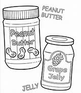 Peanut Butter Coloring Jelly Template Panut Printable Clipartbest Getdrawings Templates Sketch Getcolorings sketch template