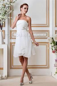 Robe Mariée Courte Pas Cher : civil robe mariage pas cher chiffon courte d collet e robe205900 ~ Mglfilm.com Idées de Décoration
