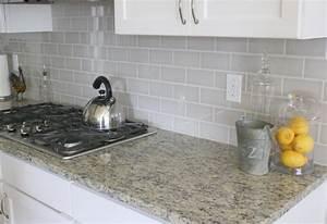 Grey backsplash best home decoration world class for Grey subway tiles backsplash